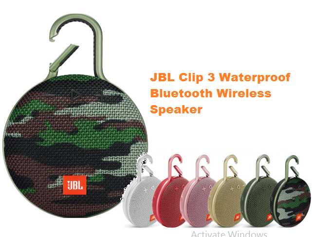 JBL Clip 3 Waterproof Bluetooth Wireless Speaker