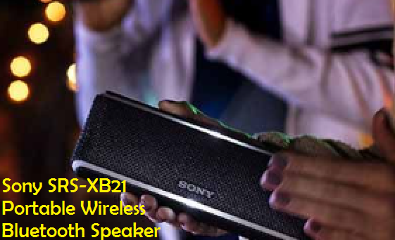 Sony SRS-XB21 Portable Wireless Bluetooth Speaker, Black (SRSXB21/B)