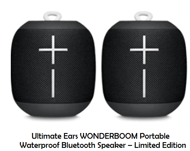 Ultimate Ears WONDERBOOM Portable Waterproof Bluetooth Speaker – Limited Edition